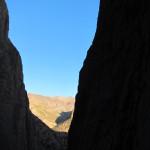 jolie vue sur la fin du canyon