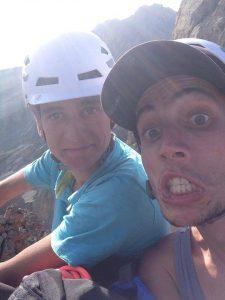 Les brothers au sommet ! Déchirés mais content !